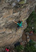 Rock Climbing Photo: John Peach on 32 Flavors