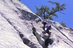 Rock Climbing Photo: Setting some pro after getting over the alligator ...
