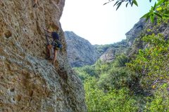 Rock Climbing Photo: Leading Guerilla Drilla
