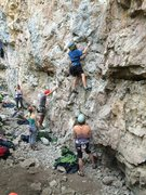 Rock Climbing Photo: Colden Perkins (12) flashing at the Sno-Cone wall.