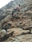 Rock Climbing Photo: Chris Perkins on Gunnery Sergeant Hartman.