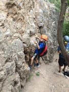 Rock Climbing Photo: Marshall starts his alpine-solo training at the ba...