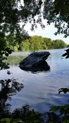 Rock Climbing Photo: This rock in the river is immediately opposite the...