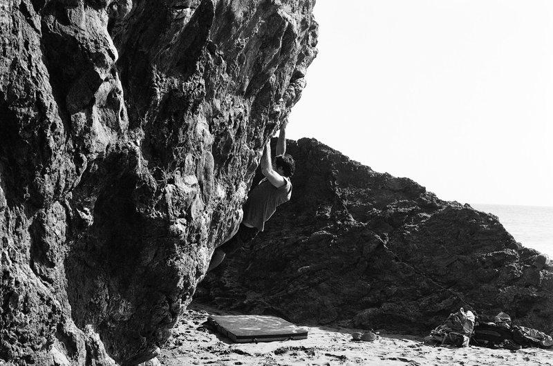 Rock Climbing Photo: B&W Beach Bouldering