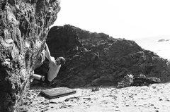 Rock Climbing Photo: Monkey style