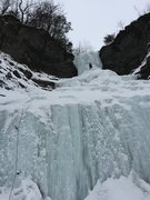 Rock Climbing Photo: Leading Aunt Sarah's Falls in the Finger Lakes Reg...