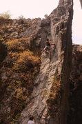 Rock Climbing Photo: Sams 1st lead