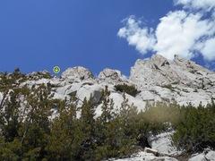 Rock Climbing Photo: The three chutes. Also notice three minor peaks to...