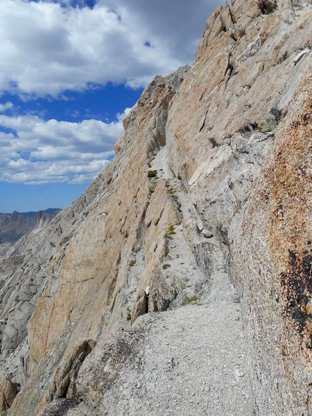Rock Climbing Photo: The exposed catwalk on the way to the summit. You'...