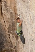 Rock Climbing Photo: Carl battles Mephistopheles, 5.13a  Photo by Tyler...