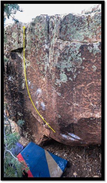 Rock Climbing Photo: Quagmire problem beta.