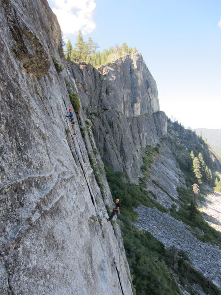 Unknown climbers on Bear's Reach on July 5, 2015. If you recognize yourself in the photo, I'm glad you found it!