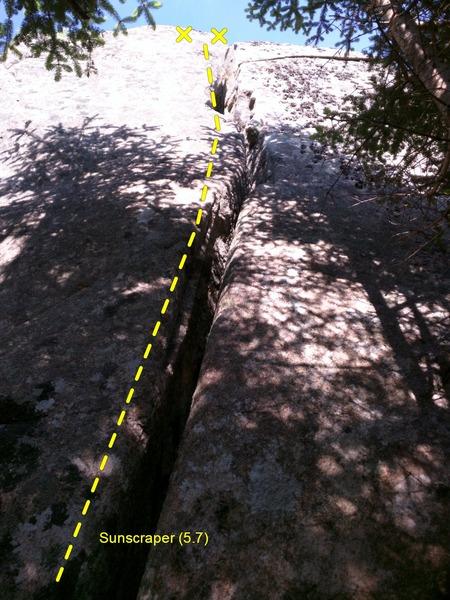 Rock Climbing Photo: Sunscraper