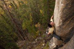 Rock Climbing Photo: Austin on Turrets Arete, 5.12b  Photo by Tyler Kas...
