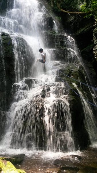 Waterfall on Rio Reservoir