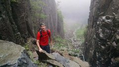 Rock Climbing Photo: Beginning the Trapdike