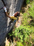 Rock Climbing Photo: On the upper section of Crimps are for Pimps, abou...