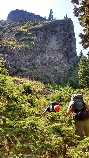 Rock Climbing Photo: Final bit of approach