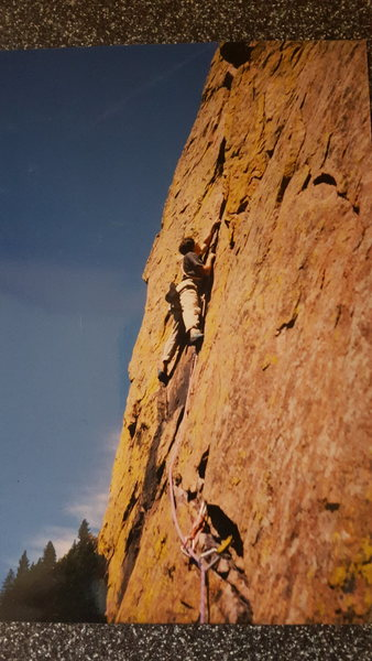 Rock Climbing Photo: Rewritten, Eldo 5.7