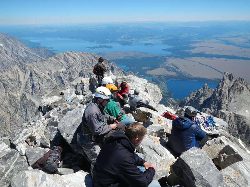 Rock Climbing Photo: Looking for solitude on the summit?  Good luck.