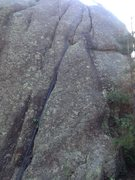 Rock Climbing Photo: The climb with a rope on it.