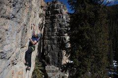 Rock Climbing Photo: Mark enjoys a warm winters day at The Ice Box  Pho...