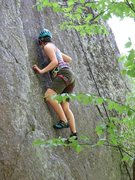 Rock Climbing Photo: My daughter Ariel on a 5.11a variation we made up ...