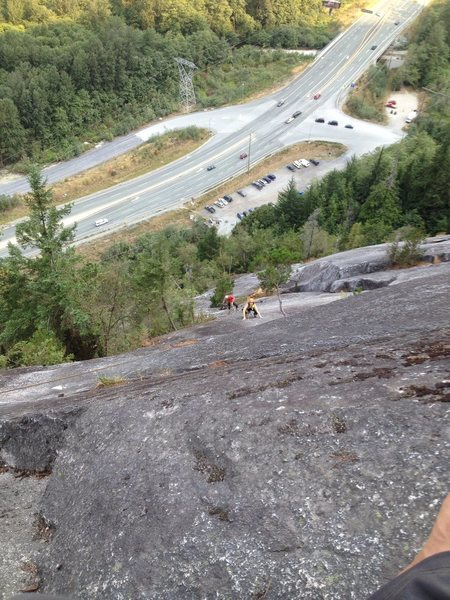 Typical squamish roadside crag