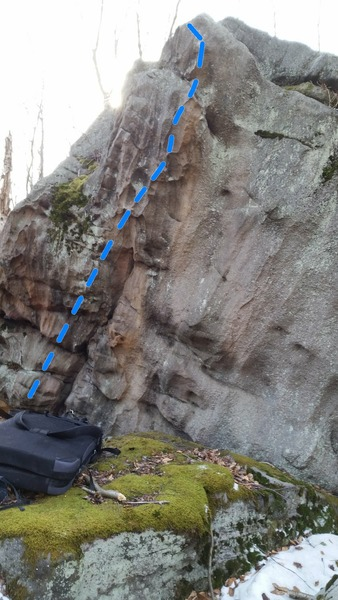 Rock Climbing Photo: A look at crock gators route