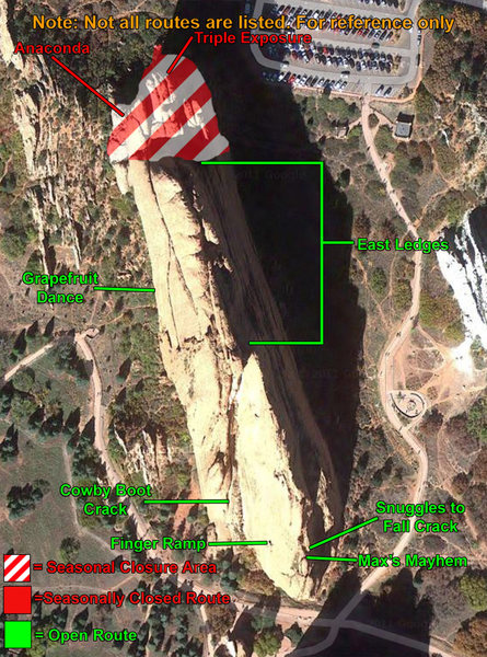 Rock Climbing Photo: Tower of Babel closure map 2015.