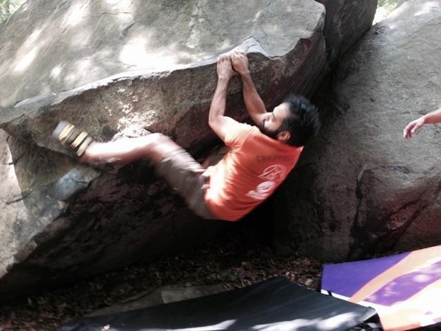 bouldering at SOurlands nj