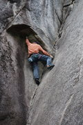"Rock Climbing Photo: (very) Tall man beta.  Gotta be 6"" 3' or tall..."