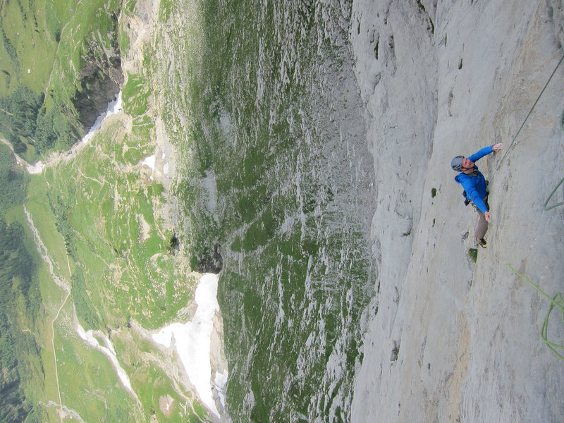The steep 7th pitch