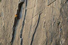Rock Climbing Photo: Pat Heddins onsights the D