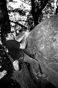 Rock Climbing Photo: Mike Arechiga on, Yabo Roof. V5