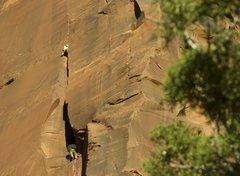 Rock Climbing Photo: Matthew Kleinert exits the chimney.