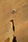 Rock Climbing Photo: Matthew Kleinert high on P2.