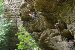Rock Climbing Photo: Trevor Smith on Velvet, Bailey Crawford on Tacit