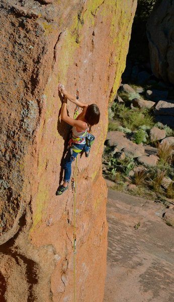 Bailey Crawford on the Amazon Boulder