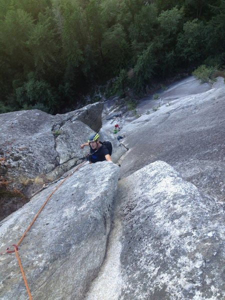 Rock Climbing Photo: sunset strip, 10d, 12p, squamish chief