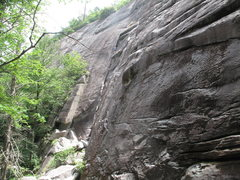 Rock Climbing Photo: Dandy Line, Cedar Rock, NC. A well-protected long ...