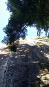 Rock Climbing Photo: A photo with lots of contrast showing P1 and the P...