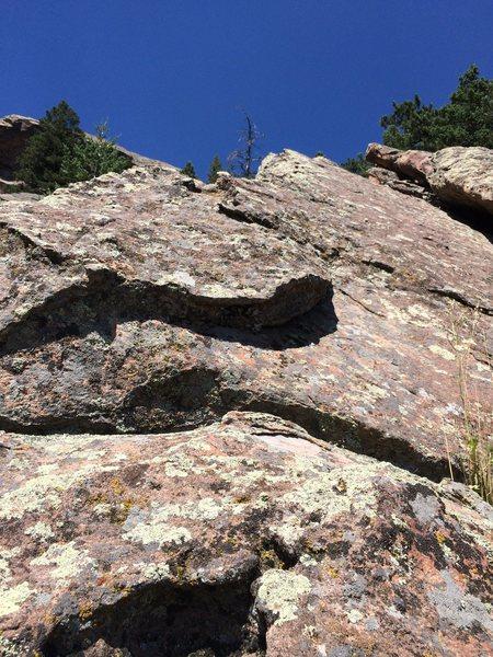 Rock Climbing Photo: Up the ridge past the crux.