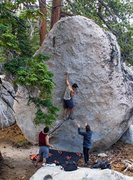 Rock Climbing Photo: Just a lil' bit up this classic route
