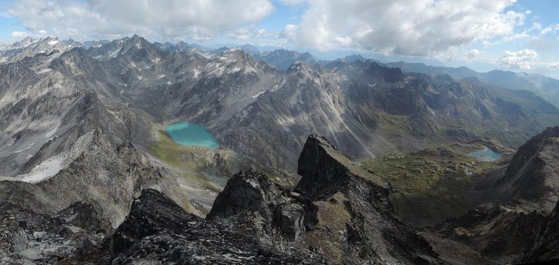 Reed Lakes from the summit of Higher Spire