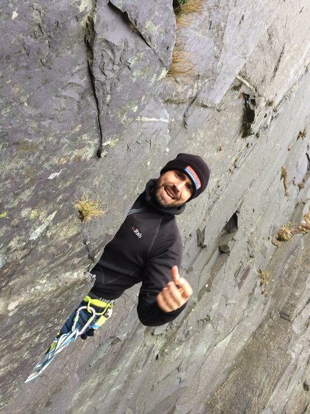 LLamberis Slate climbing in Wales (UK). It was bloody freezing
