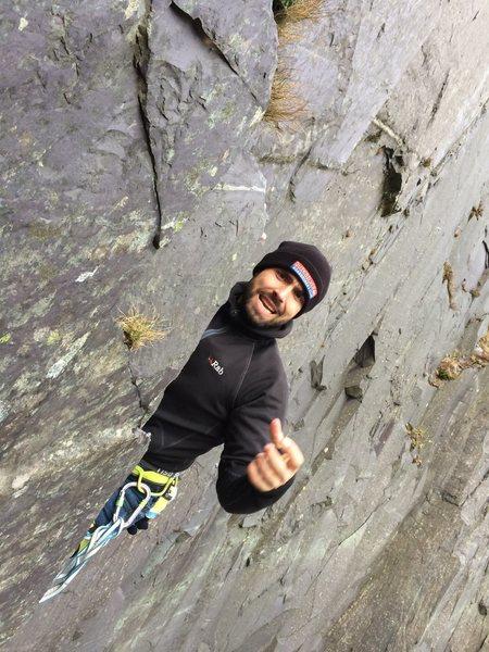 Rock Climbing Photo: LLamberis Slate climbing in Wales (UK). It was blo...
