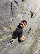 LLamberis Slate climbing in Wales (UK). It was bloody freezing