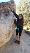 Rock Climbing Photo: My not so lil girl warming up for Dino egg 8)