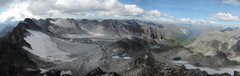 Rock Climbing Photo: Snowbird Glacier area from Higher Spire.